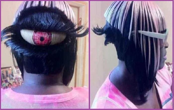Les yeux jusqu'à la nuque, littéralement - Les 14 coupes de cheveux les plus ridicules que vous ayez jamais vues.