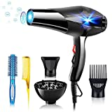 DFGOTOP 3000W Professional Women's Ionic Hair Dryer, Powerful Hair Dryer with Diffuser and...