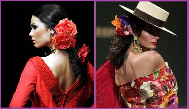 coiffures flamenco à queue de cheval basse