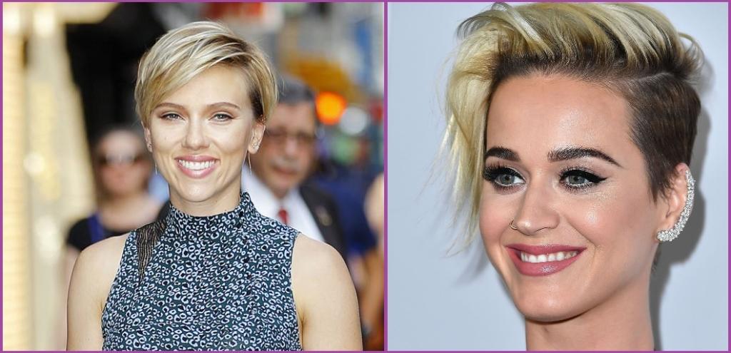 Scarlett Johansson et Katy Perry optent pour la coupe pixie- Tendances en matière de coiffure pour 2019.
