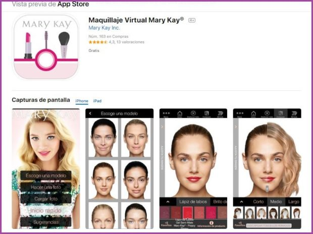 Application de maquillage virtuel Mary Kay® - 9 des meilleures applications de maquillage de 2019.