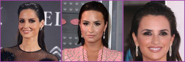 Le wet look est une coiffure que de nombreuses célébrités portent de jour comme de nuit - Coiffures pour aller à la plage