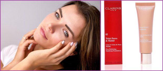 Teint Pores & Matité de Clarins, à l'argile rouge, pour cibler le sébum - Top 5 des fonds de teint pour peaux grasses