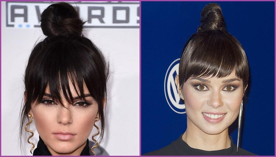 Kendall Jenner et Dafne Fernandez optent pour le chignon haut avec une frange - Comment réaliser un chignon
