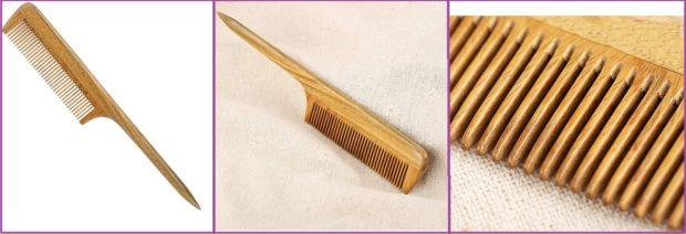 Peigne à queue en bois naturel, photos d'Amazon- Top 5 des meilleurs peignes pour cheveux longs