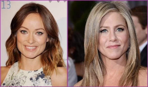 Olivia Wilde et Jennifer Aniston : deux beautés au visage en forme de trapèze - Conseils pour choisir sa frange