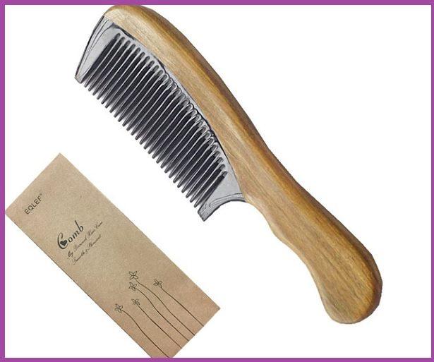 Peigne en bois de santal EQLEF® - Top 5 des peignes pour cheveux longs