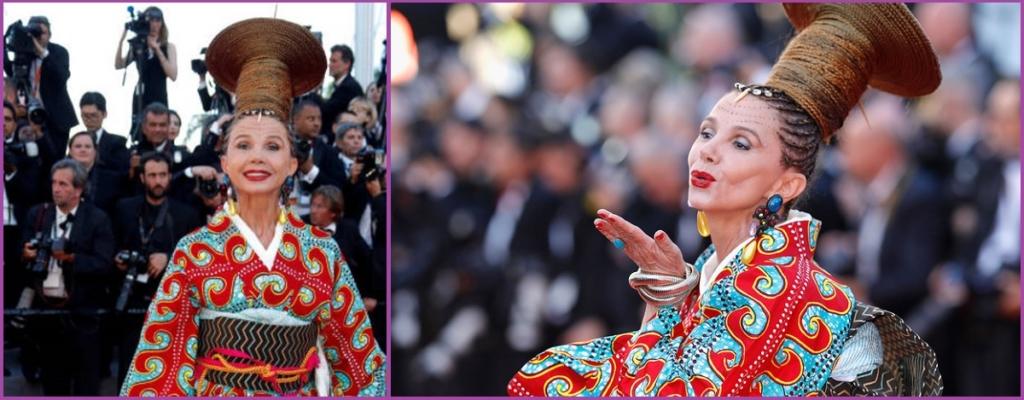 Victoria Abril lors de la cérémonie des Cannes 2017 - Le top 10 des pires coiffures de 2017.