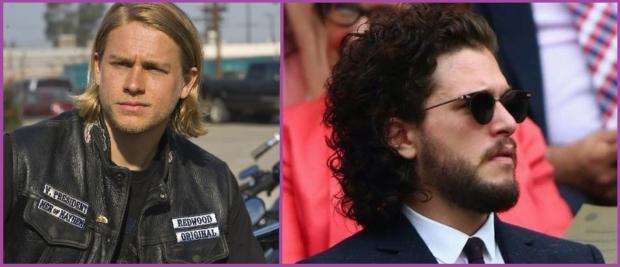 Charlie Hunnam et Kit Harington, prennent soin de leurs cheveux longs - Je suis un homme et je veux faire pousser mes cheveux longs.