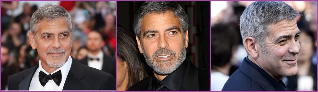 George Clooney - Coiffures élégantes pour hommes aux cheveux gris
