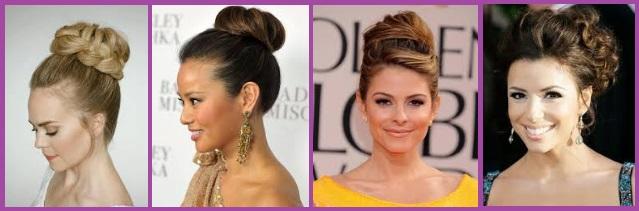 coiffures pour la Saint-Valentin coiffures hautes