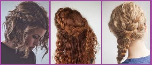 coiffures tresses cheveux bouclés jour de la Saint-Valentin