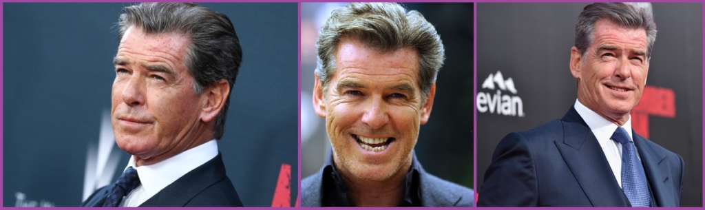 Pierce Brosnan - Coiffures élégantes pour hommes aux cheveux gris